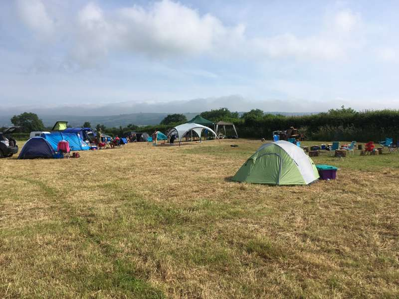 Campsite 2 - Open meadow grass pitch