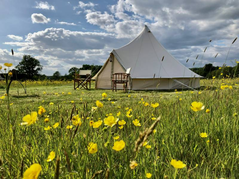 Family bell tent without bedding