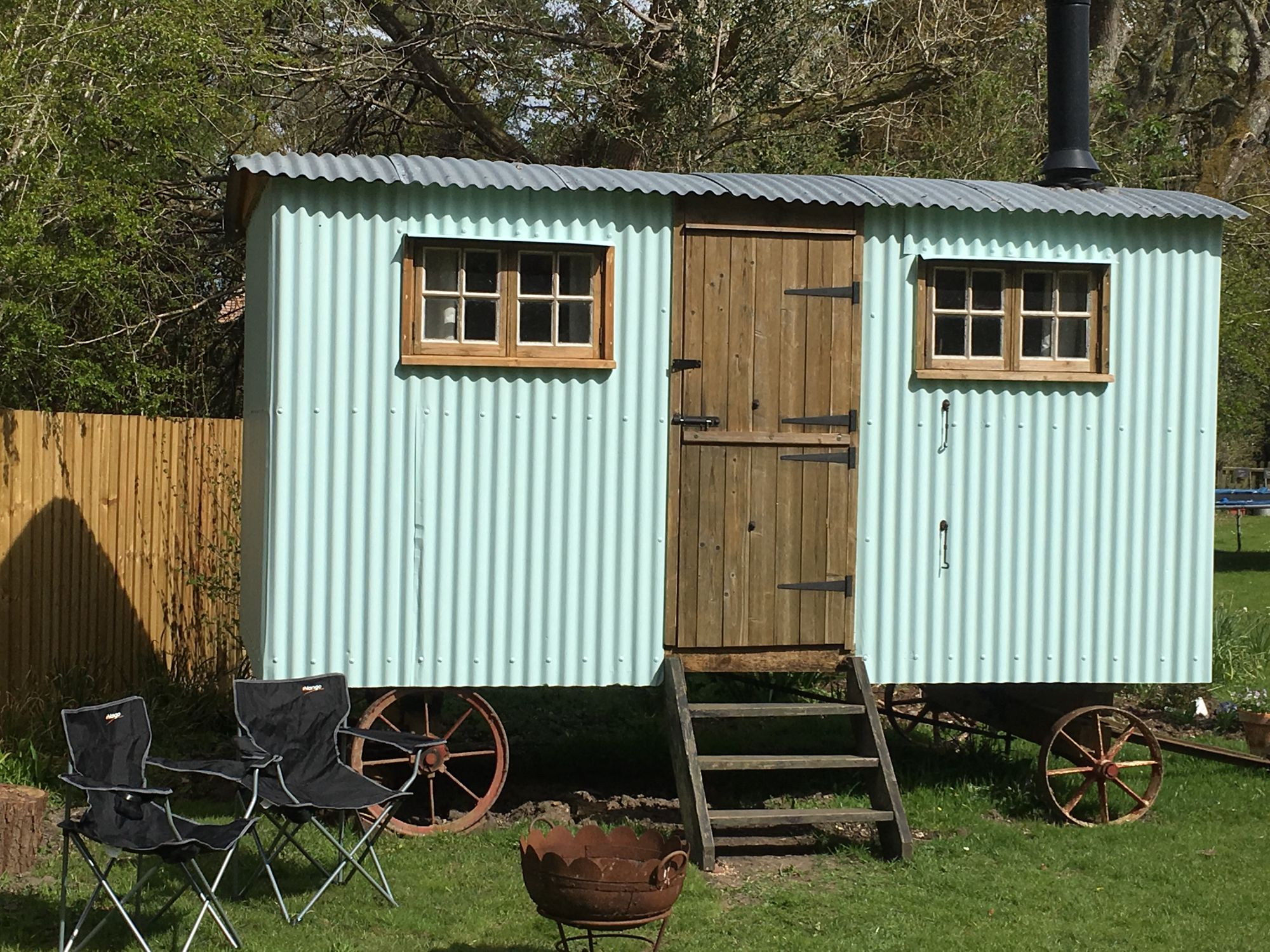 Shepherd S Hut At Fernwood Glamping Cool Camping