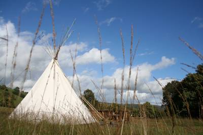 It was love at first sight, owner Hywel Jones explained, recalling the moment he first laid eyes on a tipi.