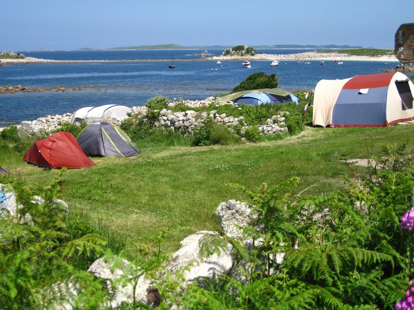 Campsites in Isles of Scilly holidays at Cool Places