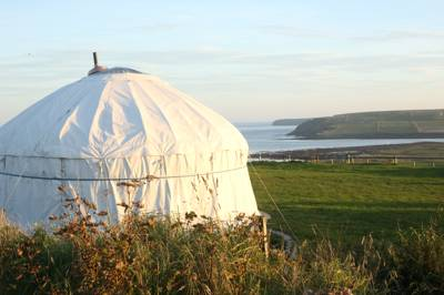 Glamping and camping on the Orkney Islands. Go back in time and leave your materialistic self at home. Sample some organic veg whilst admiring the views – delightful!