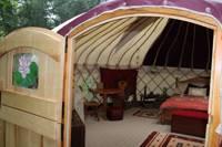 Woodland Yurt - private bathroom