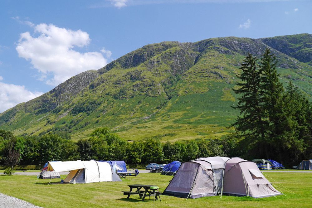 An expansive campsite set below Ben Nevis in the middle of the UK's largest and most spectacular natural playground.