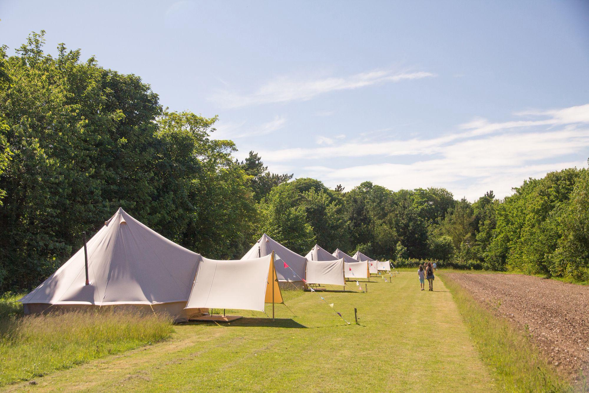 Bell tents at Wiveton Hall