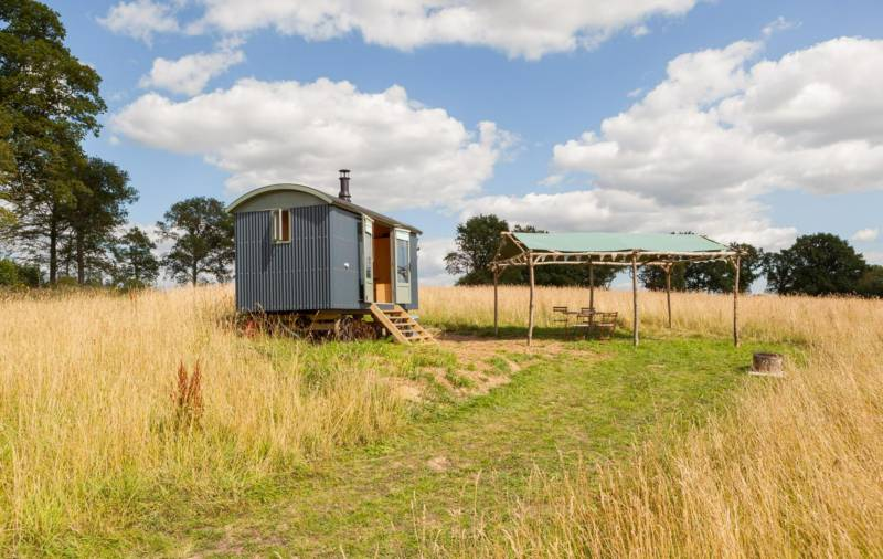 In the grasslands of rural Kent, there's no finer form of glamping accommodation than a shepherd's hut... sheep not always provided.