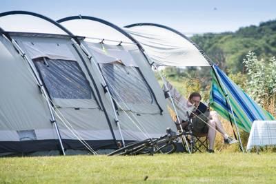 Standard Grass Tent Pitch +  hook up