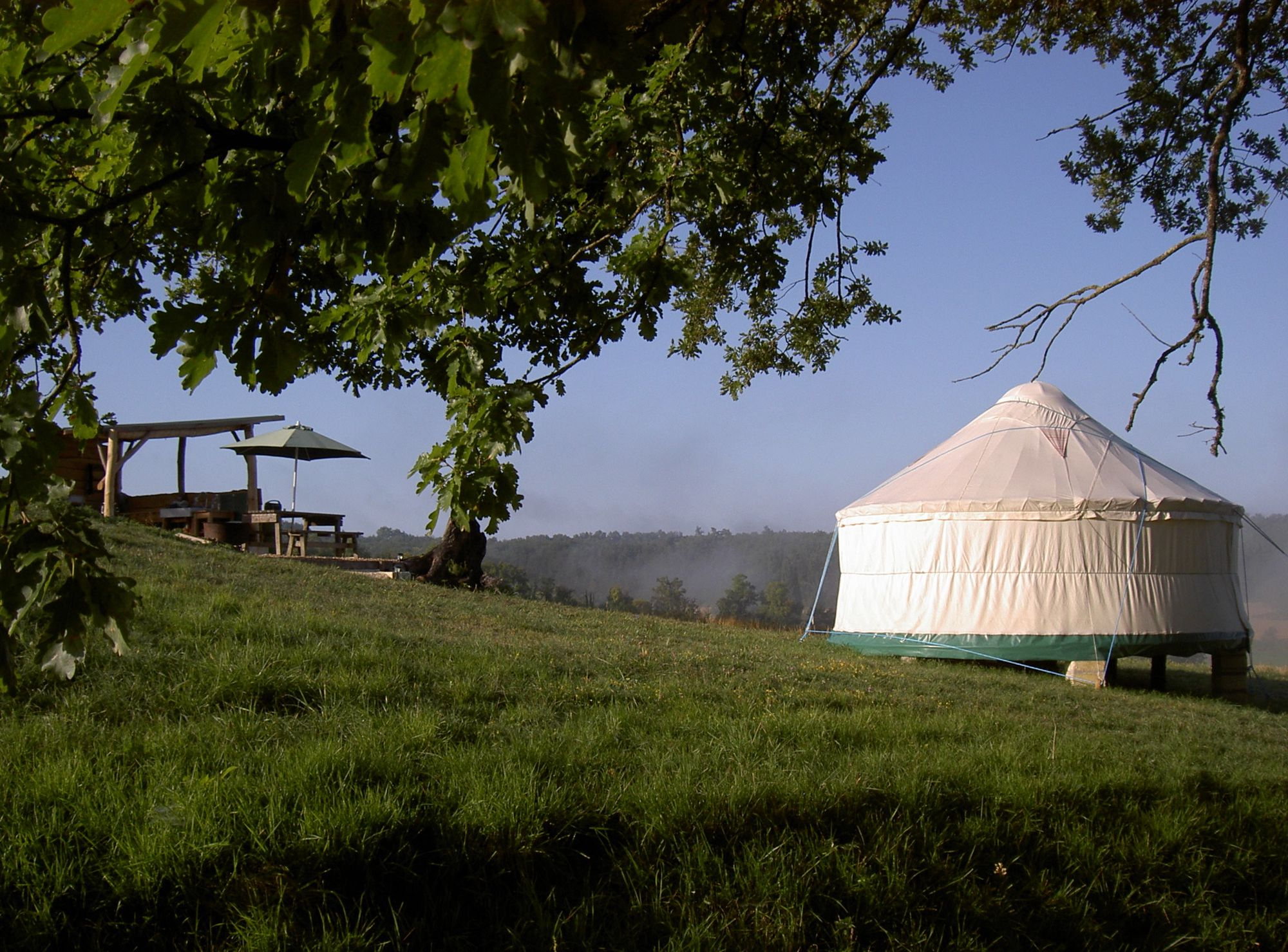Chilled out yurt glamping in the blissful rural isolation of the Dordogne.