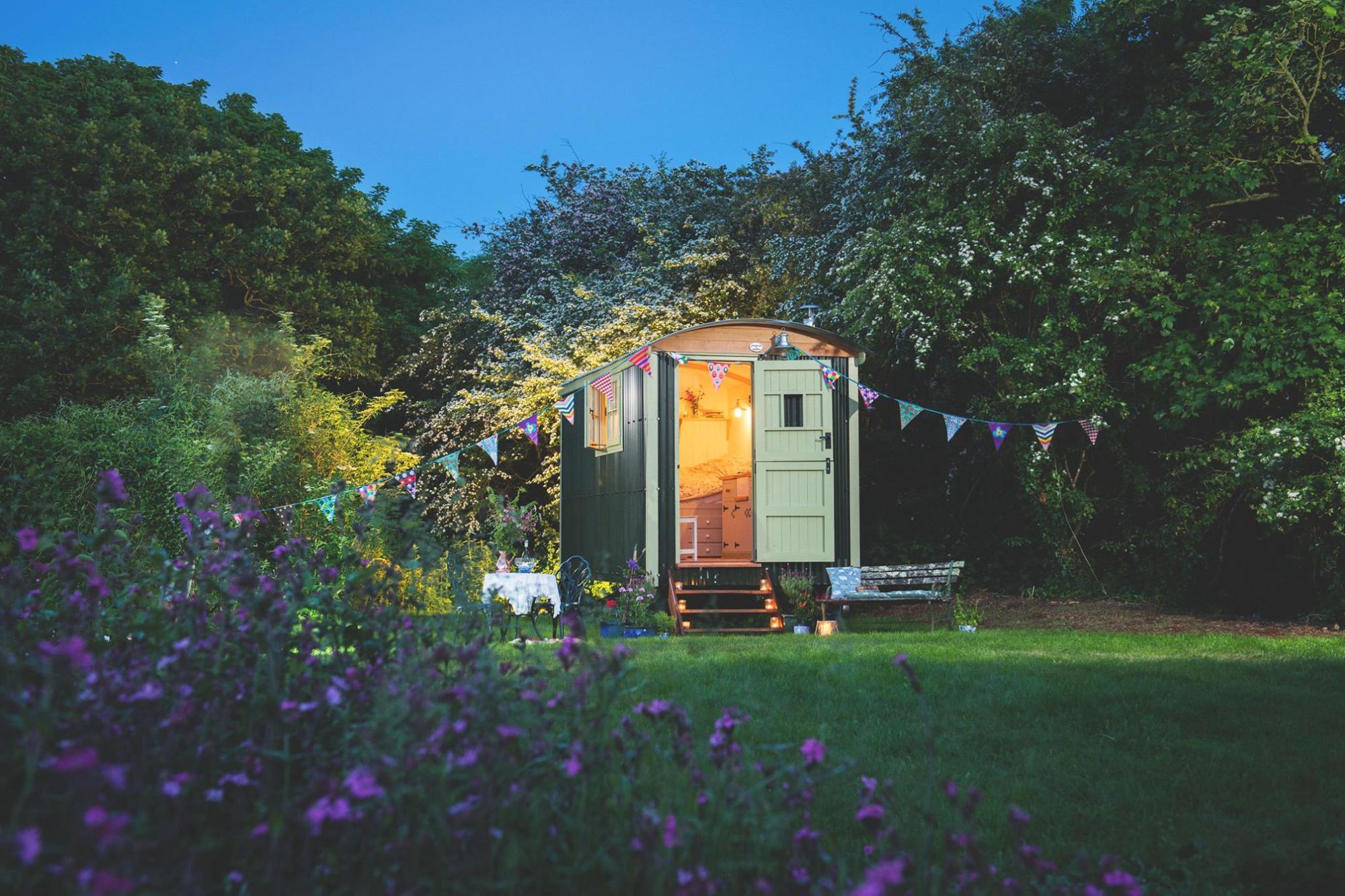 Free Range Escapes: A private shepherd's hut retreat set in North Cornwall's most accidentally excellent setting; the overgrown Tregildrans quarry.