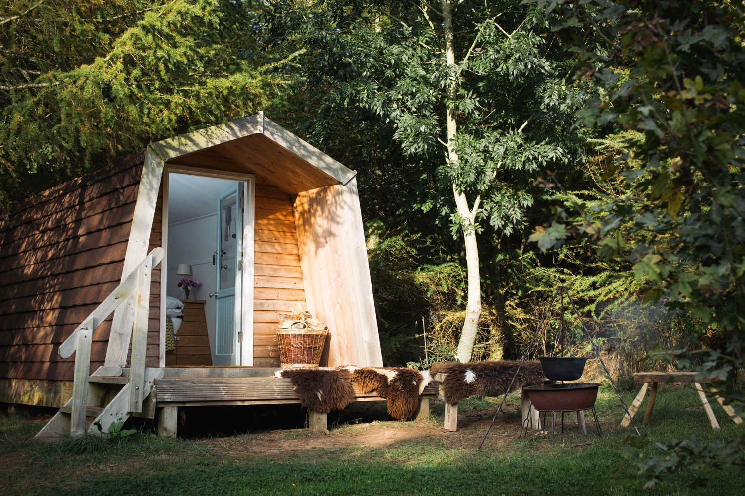 Romantically cosy camping cabins on Pembrokeshire's 'Secret Waterway'.