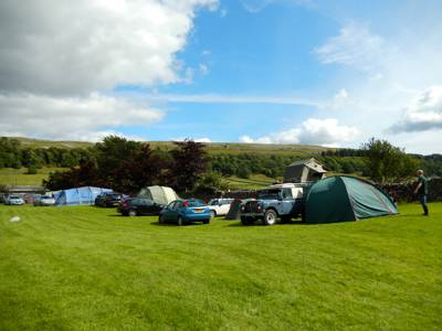 Traditional Camping in the Yorkshire Dales National Park and a scenic stop off point along the 'Dales Way'.