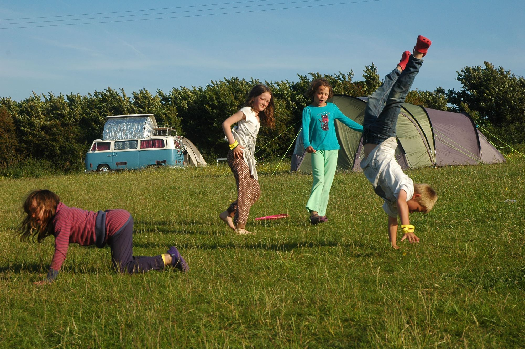 'Happy eco camping' brags the tagline. And happy is just what you'll feel here if you're eco-minded and wild about camping. Just a short walk from the kiss-me-quick seaside at Bude, at Cerenety tent life is all about being green and taking it easy.