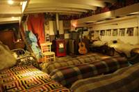Glamping in a working boatyard