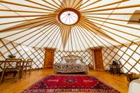 Luxurious yurt in the the Dorset hills