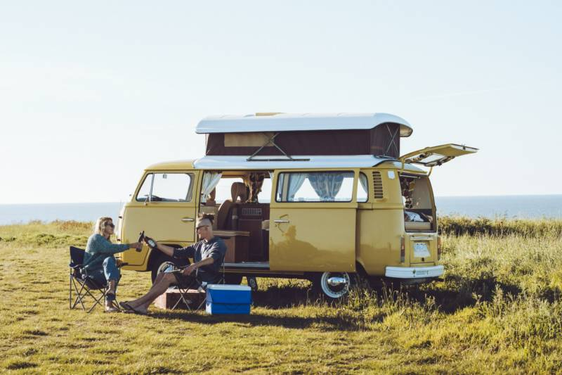 Sun sea and a retro VW campervan – the image of the #vanlife.
