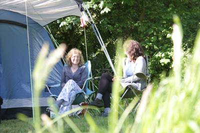 Family camping (and bell tent glamping options) in the Cornwall countryside just inland from two beachy coves – Portreath and Porthtowan.