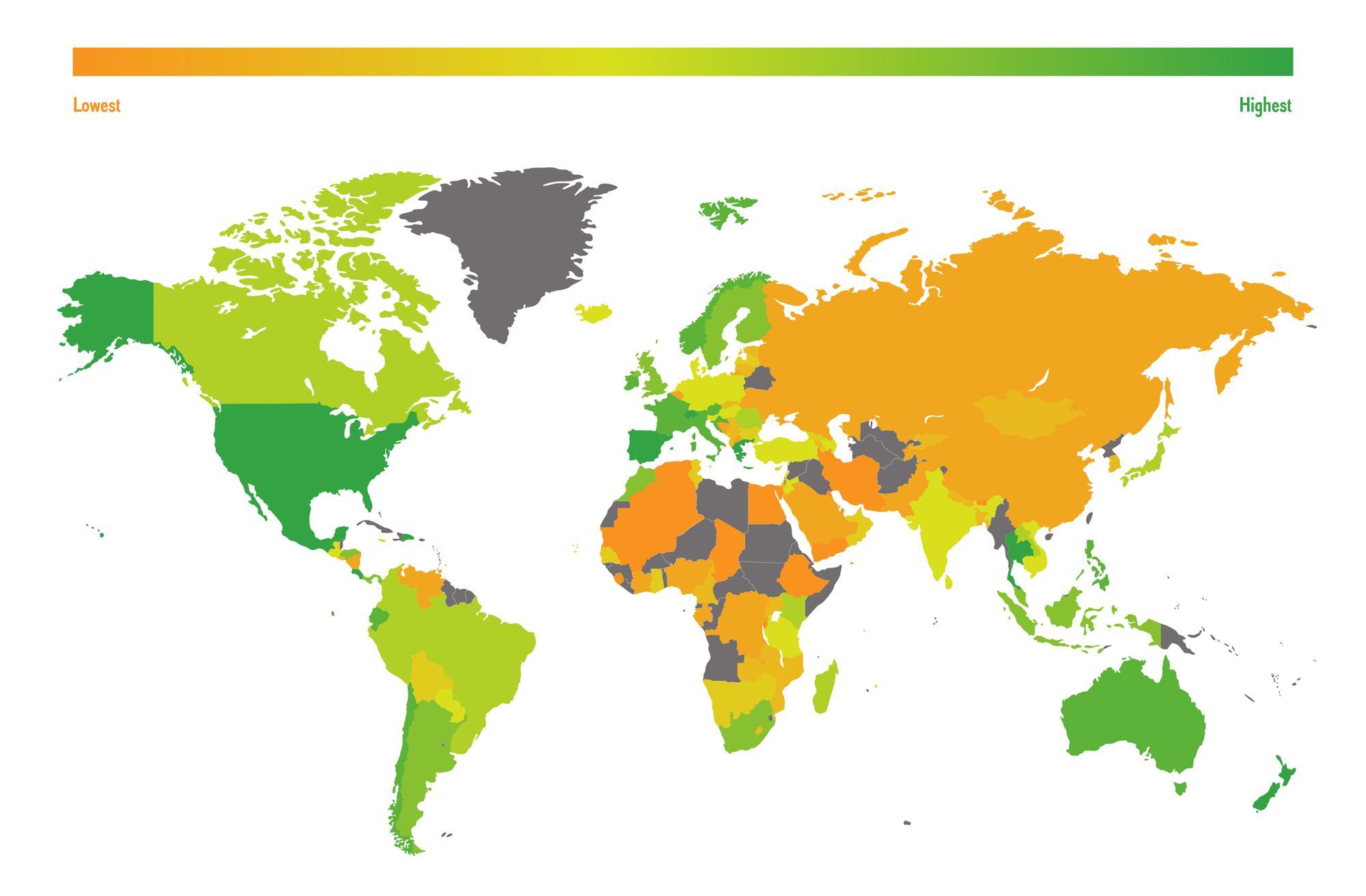 Fresh Air Living Index heat map