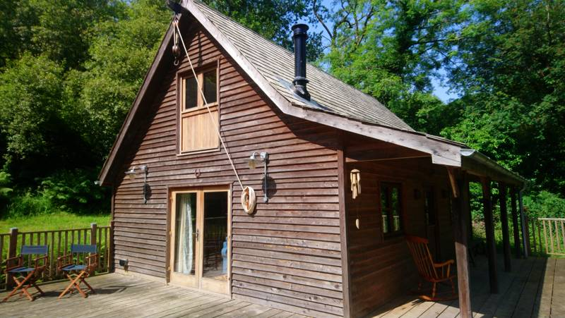 A secluded cabin just outside Lyme Regis