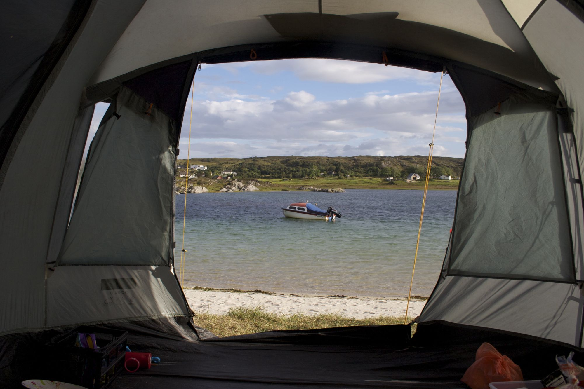 Wild camping on the coast