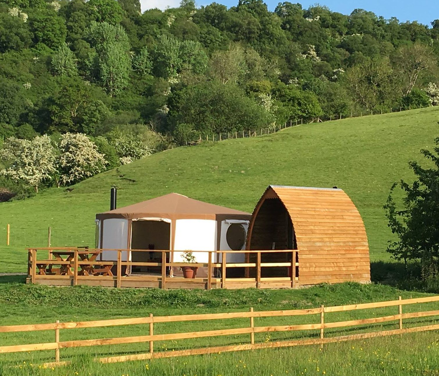 Glamping in Llandrindod Wells holidays at Cool Places