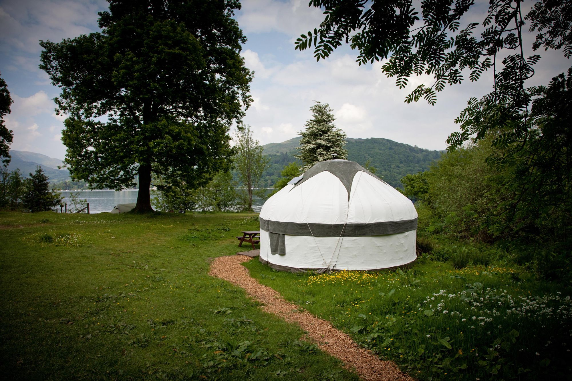 Glamping in the mountains