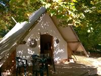Beautifully crafted Trapper Tent in the Pyrénées