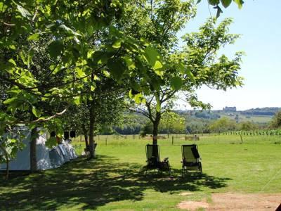 Camping Belle Vue La Contie, nr Hautefort, 24390 Boisseuilh, Dordogne, France