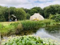 The Lily Pad -Emperor Bell Tent next to lake