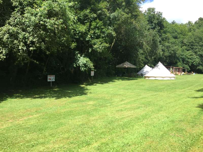 Grass pitch for Campers and Caravanners