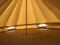 Pre-Pitched Empty Bell Tent