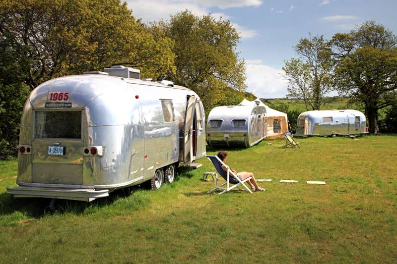 Vintage Vans & Airstream Trailers for Glamping Holidays