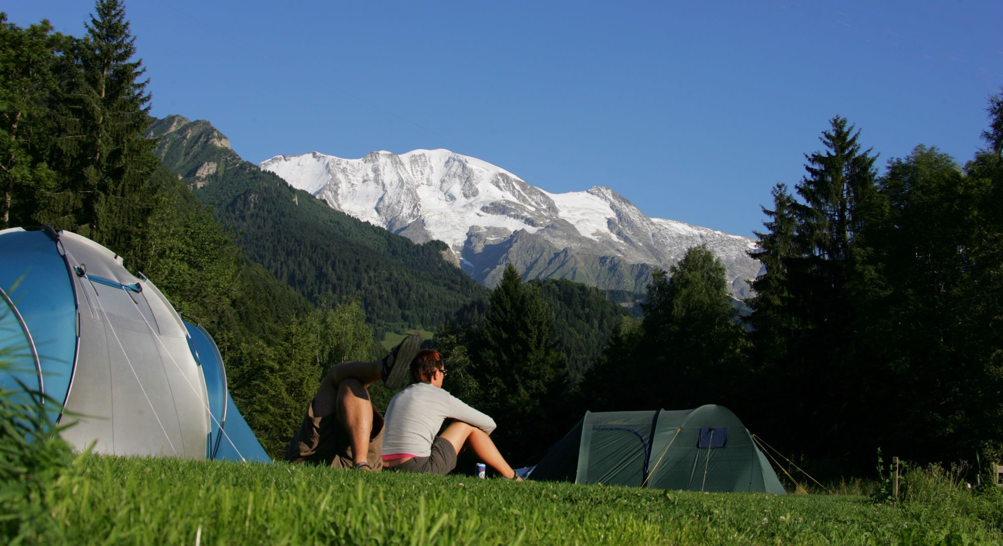 Campsites in the French Alps