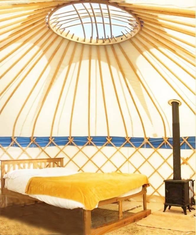Yurt glamping on a Cornish family farm