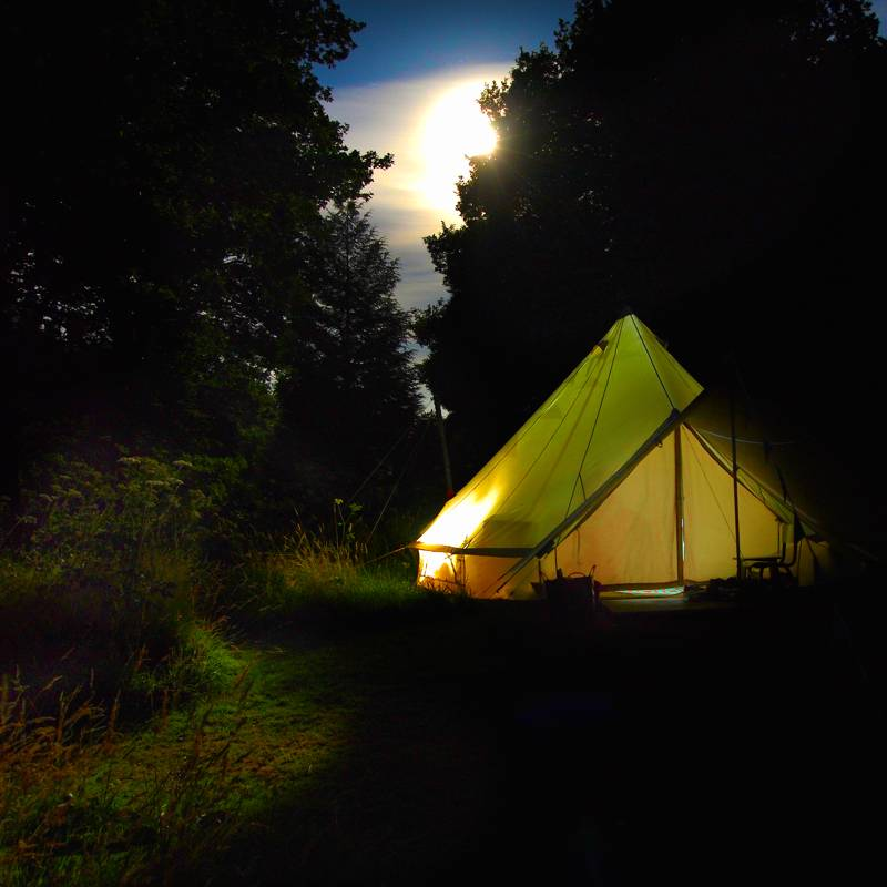 Bell Tent Camping at Walcis Farm