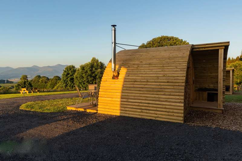 Pod glamping on the edge of the Brecon Beacons