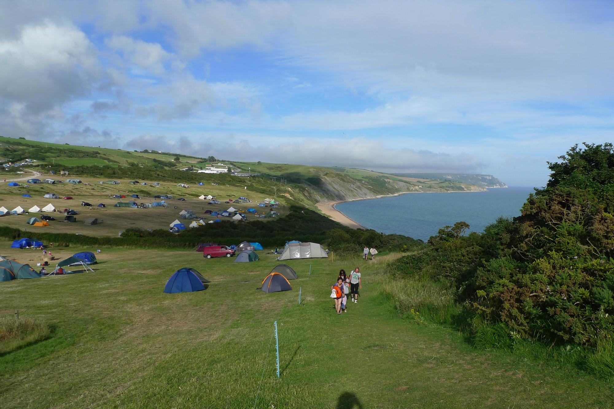 Campsites on the Jurassic Coast