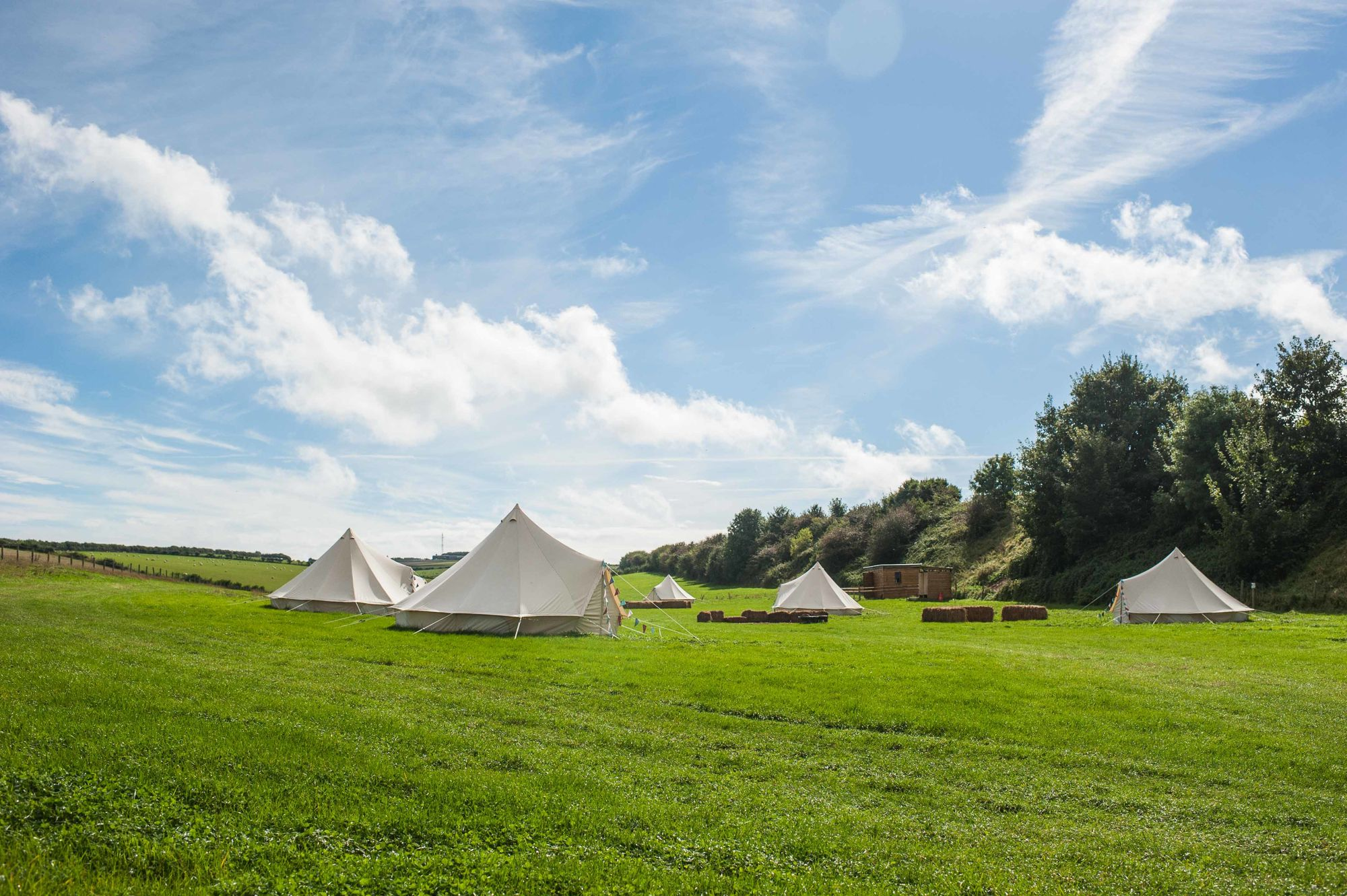 Glamping in Dorset: Relaxed bell tent glamping on the farm just a stone's throw from historic Dorchester.