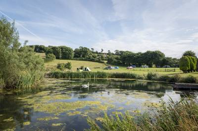 A secret, secluded campsite with wonderful Dorset views.
