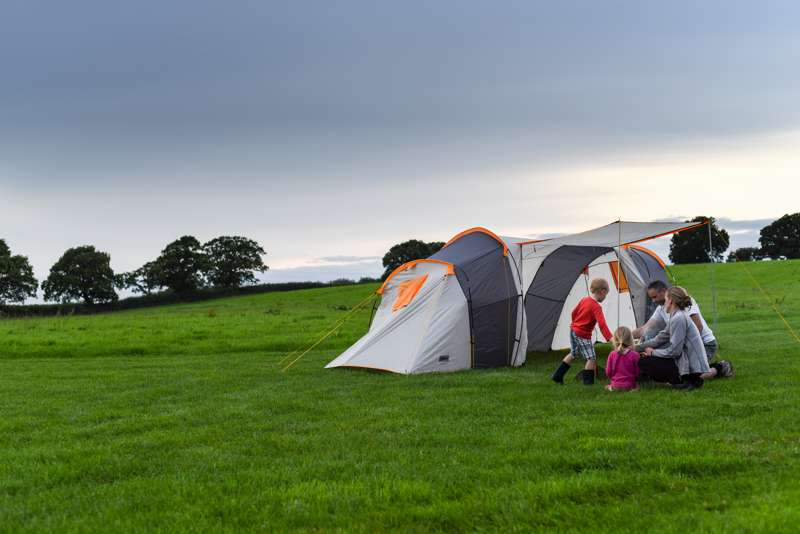 Family-friendly tent camping on this working Wiltshire farm.