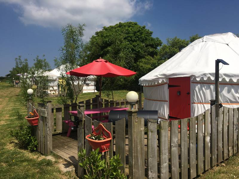 Cornwall Yurts at Carnebo Holiday Barns, Perranporth