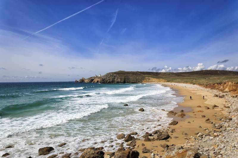 All five campsites are within walking distance of a beach in either Brittany or Normandy.