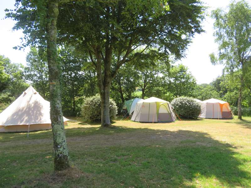 Camping au Lac du Drennec Camping Le Drennec, 29450 Commana, Finistere, Brittany, France
