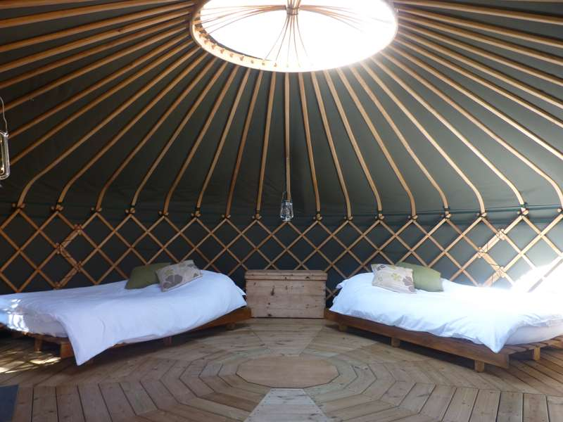 Suffolk Yurt Holidays Ufford Road, Bredfield, Woodbridge, Suffolk IP13 6AR