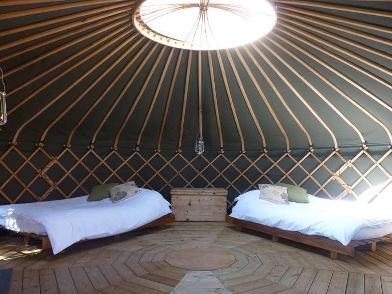 Suffolk Yurt Holidays Ufford Road, Bredfield, Woodbridge, Suffolk IP13 6AR