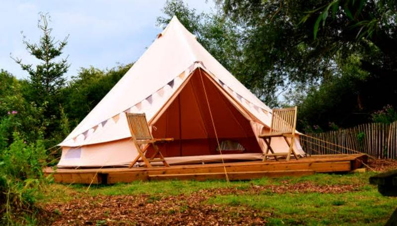 Val Bell Tent Glamping Pitch (unfurnished)
