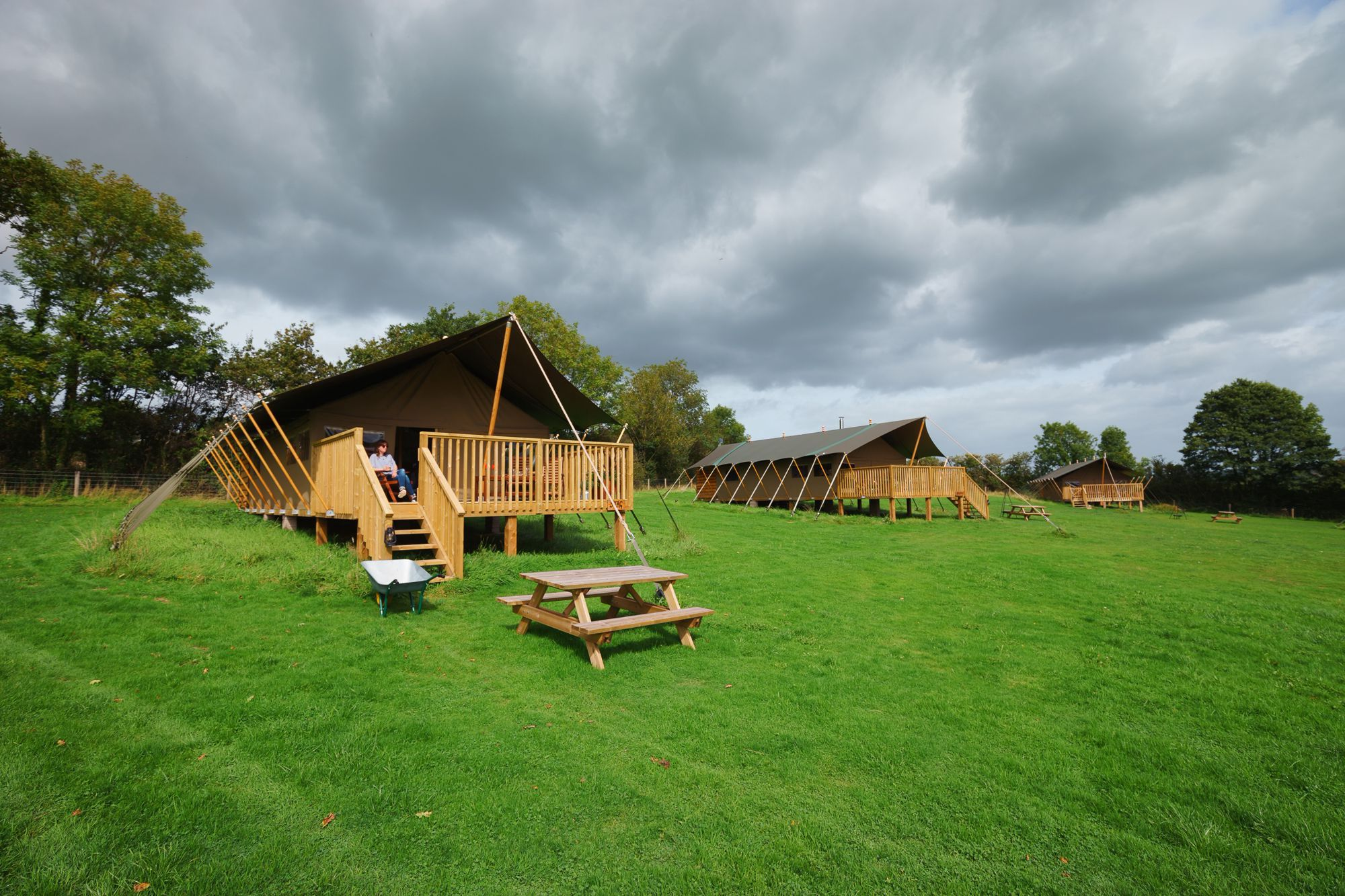 Glamping in the Blackdown Hills Area of Outstanding Natural Beauty