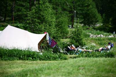 Box-ticking Alpine camping – views, air, walks and creeping trees.