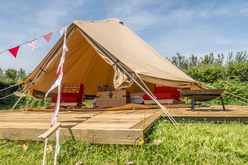 Bluebell the Bell Tent & Mena Farm Cornwall