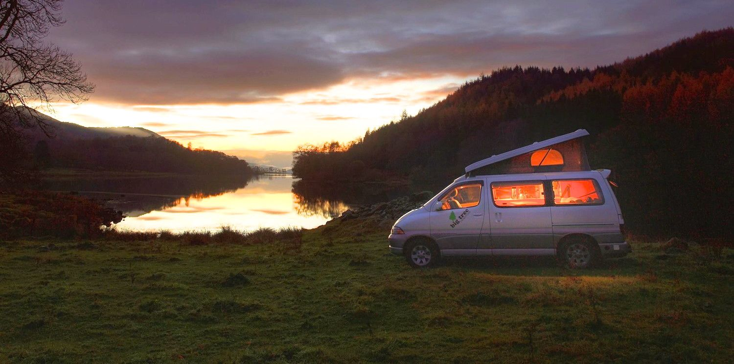 Campervans in Scotland holidays at Cool Camping