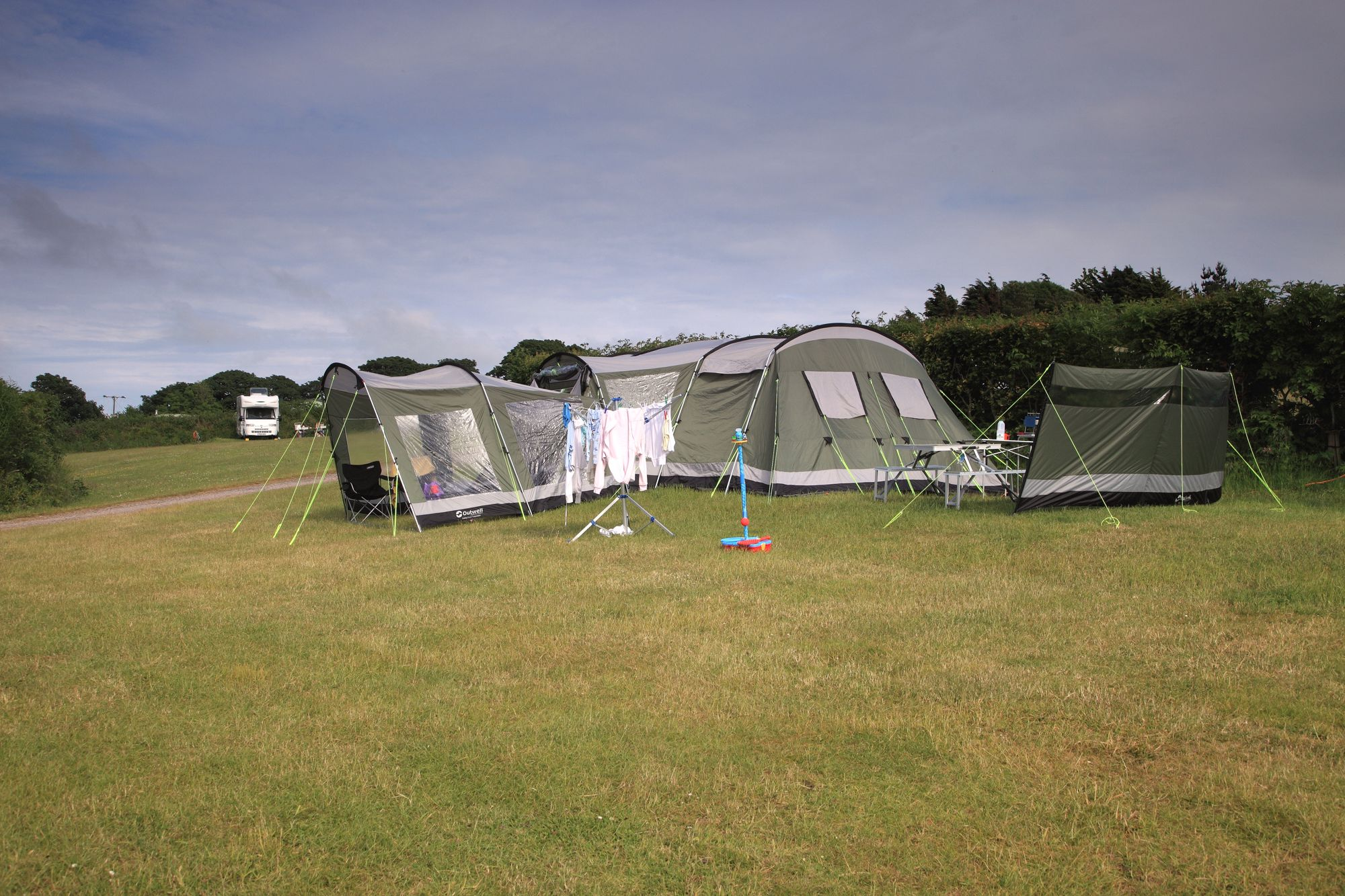 Stunning views and more space than you can shake a tent pole at.